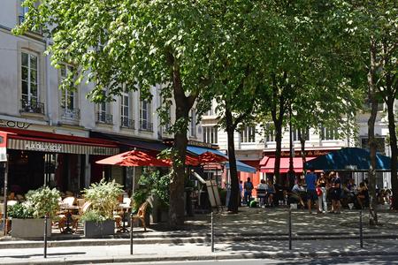 Paris; France - april 2 2017 : the rue du Louvre