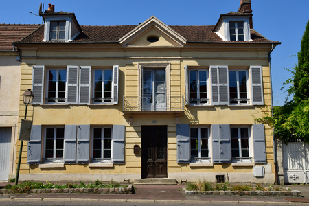 Magny en Vexin , France - august 8 2018 : the city center Sajtókép