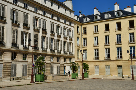 Versailles, France - september 2 2018 : the Saint Louis district near the castle