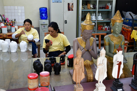 Siem Reap; Kingdom of Cambodia - august 25 2018 : Artisans Angkor, Cambodian fine arts and crafts