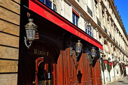 Paris; France - september 30 2018 : Maxim s restaurant in the Madeleine district