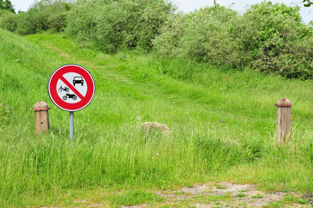 Les Mureaux; France - may 8 2018 : a forbidden sign