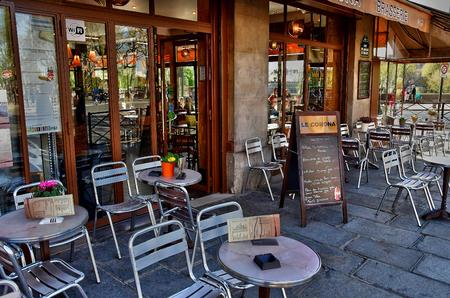 Paris; France - april 2 2017 : brasserie Amiral de Coligny street in the 1 st arrondissement