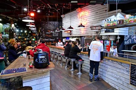 London, England - december 23 2017 : restaurant in the Camden market Sajtókép