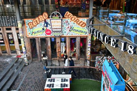 London, England - december 23 2017 : cloth shop in the Camden market