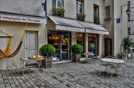 Paris; France - april 2 2017 : the Village Saint Paul in the Le Marais district