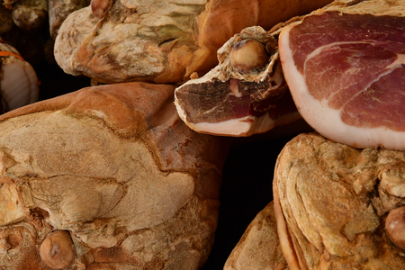 Rambouillet; France - november 11 2017 : charcuterie at the farmhouse market