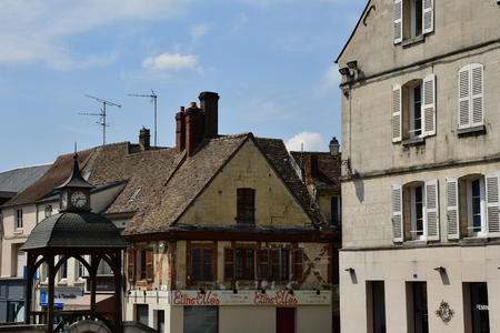 Magny en Vexin , France - july 27 2017 : the picturesque city Sajtókép