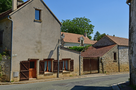 Wy dit joli village; France - august 3 2018 : the the pictureque village in summer 에디토리얼