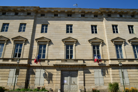 Magny en Vexin , France - august 8 2018 : the city hall Sajtókép