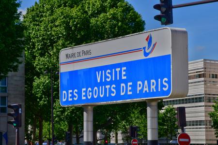 Paris; France - april 2 2017 : the Paris sewers museum entrance