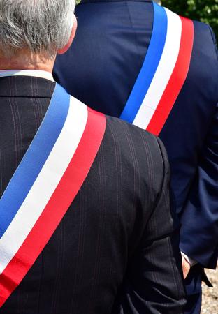 Paris, France - june 2018 : close up of councillors 写真素材