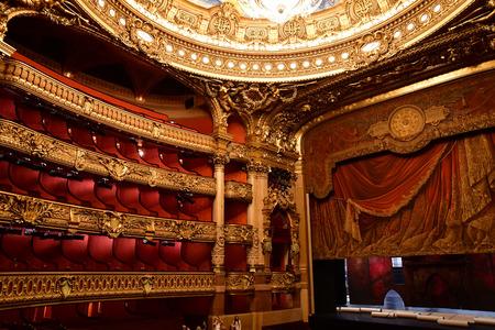 Parigi; Francia - 4 agosto 2018: l'Opera de Paris Editoriali