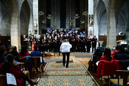Les Mureaux, France - december 13 2018 : a choir in Saint Pierre Saint Paul church Stock Photo - 123783898