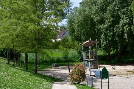 Verneuil sur Seine; France - may 17 2017 : the talweg park