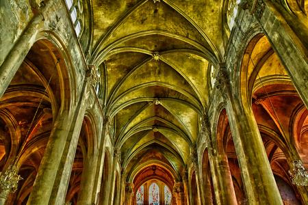 Pontoise , France - june 2 2019 : the Saint Maclou cathedral