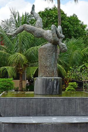 Phnom Penh; Kingdom of Cambodia - august 20 2018 : Security prison 21, Tuol Sleng genocide museum Standard-Bild - 124776820