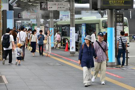 Kyoto, Japan - july 29 2017 : the train station Publikacyjne