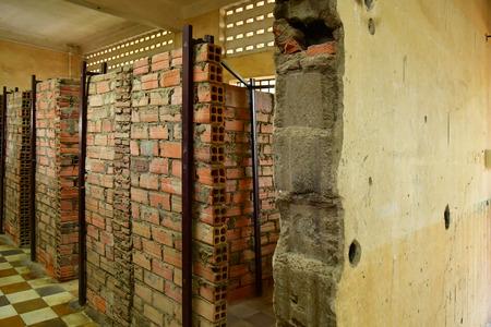 Phnom Penh; Kingdom of Cambodia - august 20 2018 : Security prison 21, Tuol Sleng genocide museum Standard-Bild - 124777135