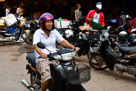 Siem Reap; Kingdom of Cambodia - august 24 2018 : the picturesque city 新聞圖片