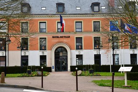 Marly le Roi; France - april 1 2018 : the city hall