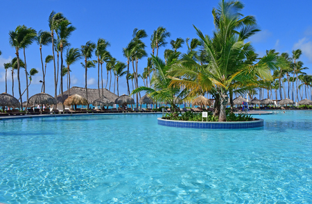 Punta Cana, Dominican Republic - may 29 2017 : tourism hotel pool