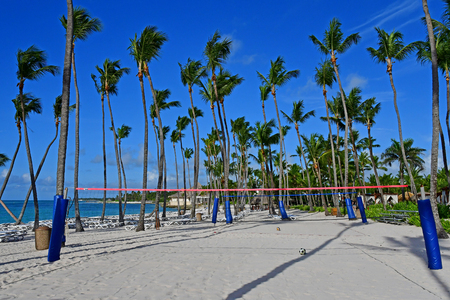 Punta Cana, Dominican Republic - may 28 2017 : beach of an hotel Editorial