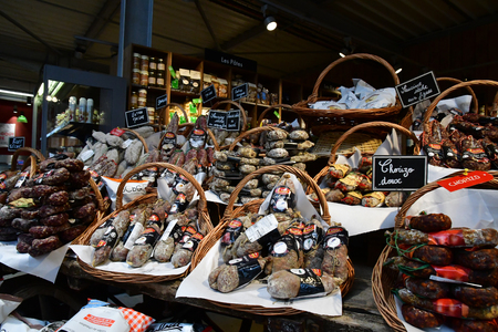 Feucherolles; France - october 29 2017 : a French specialities shop