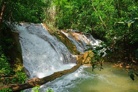 Tumbala; United Mexican States - may 16 2018 : the cascades of Agua Azul