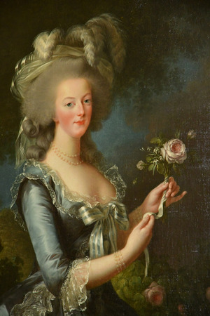 Versailles; France - october 14 2018 : paint of Marie Antoinette by Madame Vigee le Brun in the Petit Trianon in the Marie Antoinette estate in the parc of Versailles Palace Éditoriale