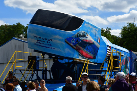 Verneuil sur Seine; France - september 8 2018 : a flight simulator at the air show