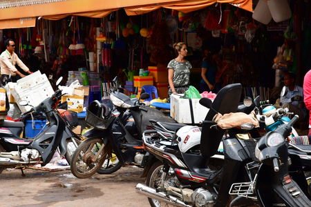 Siem Reap; Kingdom of Cambodia - august 24 2018 : the picturesque city Editorial