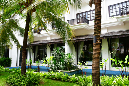 Siem Reap; Kingdom of Cambodia - august 25 2018 : the White Lotus hotel