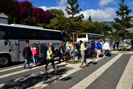 Funchal, Portugal - february 21 2018 : bus in the city centre