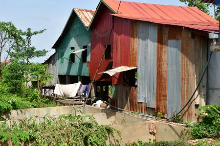 Koh Chen; Kingdom of Cambodia - august 21 2018 : the picturesque village Editorial