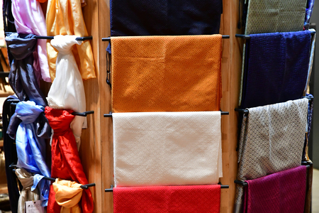 Siem Reap; Kingdom of Cambodia - august 25 2018 : cloth in a duty free in the airport