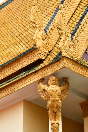 Phnom Penh; Kingdom of Cambodia - august 20 2018 : the throne hall of the Royal Palace Editorial