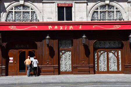 Paris; France - april 2 2017 : the famous restaurant Maxim s in the rue Royale