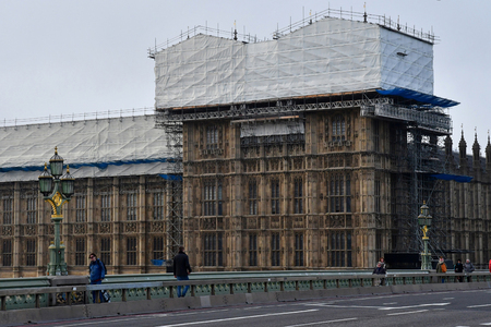 London, England - december 23 2017 : the westminster palace