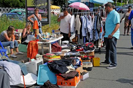 Les Mureaux; France - may 8 2018 : the flea market