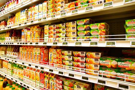 Magny en Vexin, France - august 6 2018 : compote at the supermarket Sajtókép