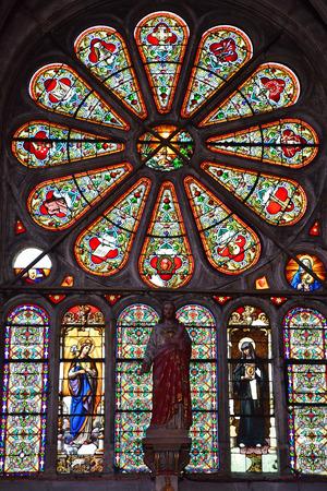 Magny en Vexin; France - april 3 2017 : the renaissance Notre Dame church