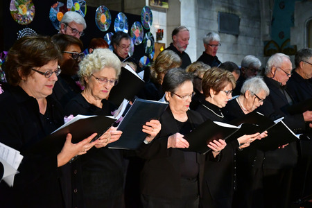 Les Mureaux, France - december 13 2018 : a choir in Saint Pierre Saint Paul church Stock Photo - 125543470