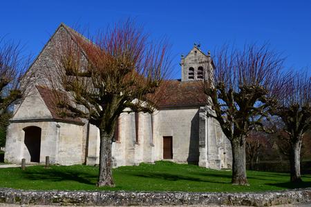 Wy dit Joli Village, France - march 16 2017 : the church