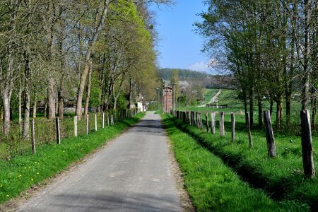 the picturesque village in spring