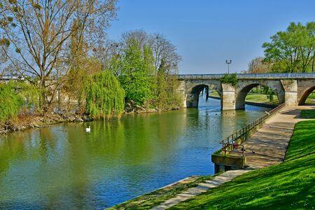 the seine river Stock Photo