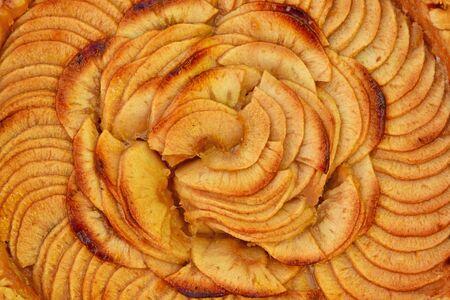 close up of an apple tart Zdjęcie Seryjne
