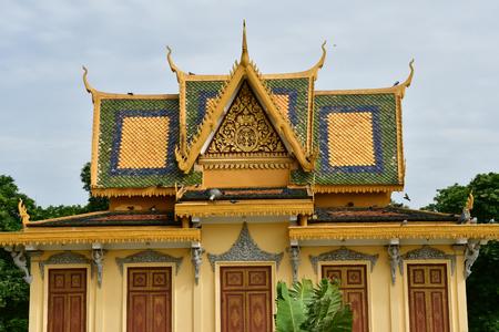 Phnom Penh; Kingdom of Cambodia - august 20 2018 : the Royal Palace Publikacyjne