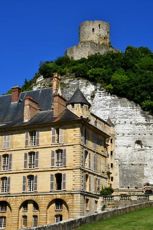 La Roche Guyon, France - june 27 2018 : the historical castle