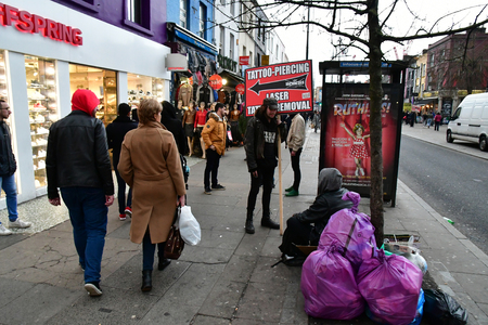 London, England - march 11 2018 : the picturesque Camden high street